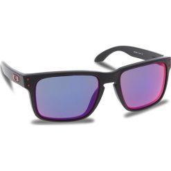 Okulary przeciwsłoneczne OAKLEY - Holbrook OO9102-36 Matte Black/Red Iridium. Czarne okulary przeciwsłoneczne męskie Oakley, z tworzywa sztucznego. W wyprzedaży za 449.00 zł.