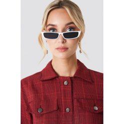 NA-KD Accessories Prostokątne okulary przeciwsłoneczne - White. Białe okulary przeciwsłoneczne damskie NA-KD Accessories. Za 80.95 zł.