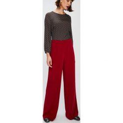 Answear - Spodnie Falling in autumn. Brązowe spodnie materiałowe damskie ANSWEAR, z materiału. W wyprzedaży za 89.90 zł.