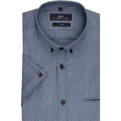 Koszula SIMONE KKGS000007. Szare koszule męskie Giacomo Conti, na lato, z materiału, button down, z krótkim rękawem. Za 199.00 zł.