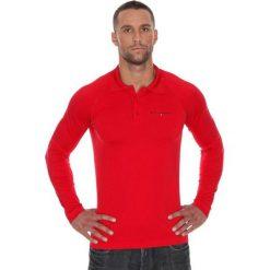 Brubeck Koszulka męska polo Prestige z długim rękawem czerwona r. XL (LS10620). Koszulki polo męskie Brubeck, z długim rękawem. Za 215.89 zł.