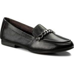 Półbuty TAMARIS - 1-24214-20 Black Leather 003. Czarne półbuty damskie Tamaris, ze skóry. W wyprzedaży za 199.00 zł.
