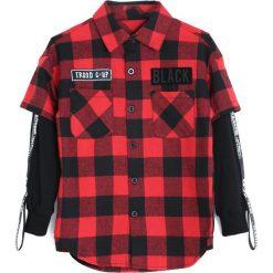 Czarno-Czerwona Koszula Each Year. Koszule dla chłopców marki bonprix. Za 44.99 zł.