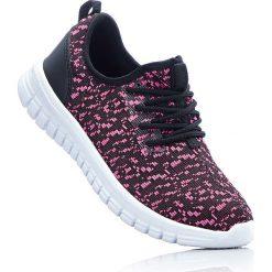 Sneakersy bonprix czarno-różowy. Buty sportowe chłopięce marki bonprix. Za 59.99 zł.