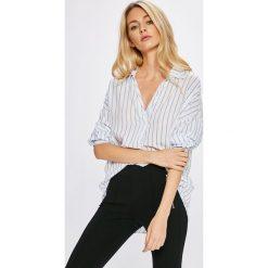 Answear - Bluzka Stripes Vibes. Szare bluzki damskie ANSWEAR, z bawełny, casualowe. W wyprzedaży za 69.90 zł.