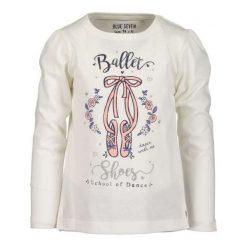 Blue Seven Koszulka Dziewczęca Ballet 92 Biała. Białe bluzki dla dziewczynek Blue Seven, z nadrukiem. Za 45.00 zł.