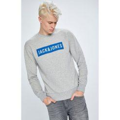 Jack & Jones - Bluza. Szare bluzy męskie Jack & Jones, z aplikacjami, z bawełny. W wyprzedaży za 99.90 zł.