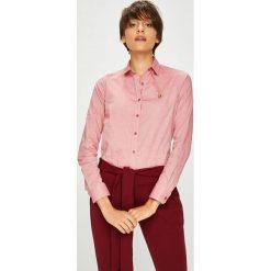 U.S. Polo - Koszula. Różowe koszule damskie U.S. Polo, z bawełny, casualowe, z włoskim kołnierzykiem, z długim rękawem. W wyprzedaży za 269.90 zł.