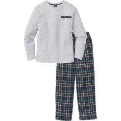 Piżama bonprix jasnoszary melanż w kratę. Szare piżamy męskie bonprix, melanż. Za 74.99 zł.