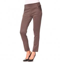 """Spodnie """"Scap"""" w kolorze szarobrązowym. Brązowe spodnie materiałowe damskie Assuili. W wyprzedaży za 90.95 zł."""
