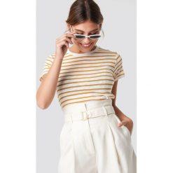 MANGO T-shirt Popeye - White,Yellow. Białe t-shirty damskie Mango, z materiału, z okrągłym kołnierzem. Za 52.95 zł.