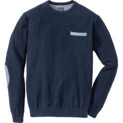 Sweter Regular Fit bonprix ciemnoniebieski. Swetry przez głowę męskie marki Giacomo Conti. Za 69.99 zł.