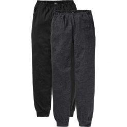 Spodnie piżamowe (2 pary) bonprix antracytowy melanż + czarny. Piżamy damskie marki bonprix. Za 69.98 zł.