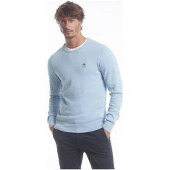 Polo Club C.H..A Sweter Męski M Jasnoniebieski. Szare swetry przez głowę męskie Polo Club C.H..A, z okrągłym kołnierzem. W wyprzedaży za 239.00 zł.