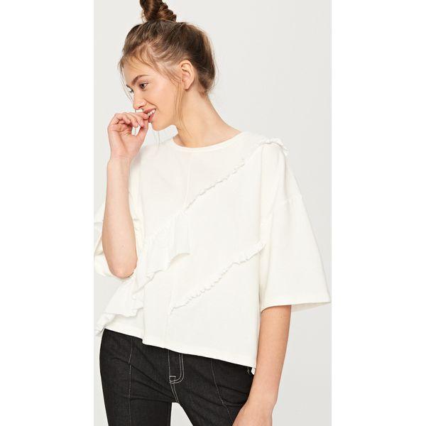 55533151539515 Bluzka z falbanami - Kremowy - Białe bluzki damskie Reserved, bez ...
