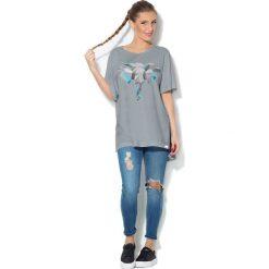 Colour Pleasure Koszulka CP-033  209 szara r. uniwersalny. T-shirty damskie Colour Pleasure. Za 76.57 zł.