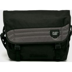 Caterpillar - Torba Aron. Czarne torby na laptopa męskie Caterpillar, w paski, z materiału. W wyprzedaży za 149.90 zł.
