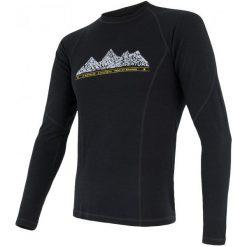 Sensor Koszulka Termoaktywna Z Długim Rękawem Merino Df Adventure M Black Xl. Czarne koszulki sportowe męskie Sensor, z materiału, z długim rękawem. Za 229.00 zł.