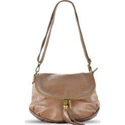 """Skórzana torebka """"Celia"""" w kolorze szarobrązowym - 29 x 24 x 8 cm. Brązowe torby na ramię damskie Spéciale Maroquinerie. W wyprzedaży za 237.95 zł."""