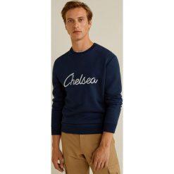 Mango Man - Bluza Chelsea. Brązowe bluzy męskie Mango Man, z aplikacjami, z bawełny. Za 139.90 zł.