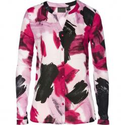 Bluzka z nadrukiem bonprix jeżynowy z nadrukiem. Fioletowe bluzki damskie bonprix, z nadrukiem, z długim rękawem. Za 74.99 zł.
