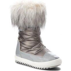 Śniegowce BARTEK - 24385-82G Szary. Śniegowce dziewczęce Bartek, z lakierowanej skóry. W wyprzedaży za 209.00 zł.