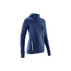 Bluza do biegania RUN WARM HOOD damska. Niebieskie bluzy damskie KALENJI, z elastanu. Za 69.99 zł.