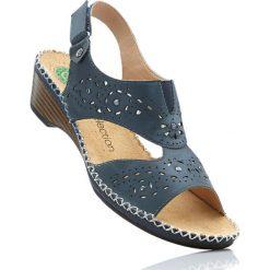 Wygodne sandały skórzane bonprix ciemnoniebieski. Sandały damskie marki bonprix. Za 179.99 zł.