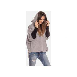 Bluza damska kangurka z kapturem. Szare bluzy damskie Bien fashion, z bawełny. Za 169.00 zł.