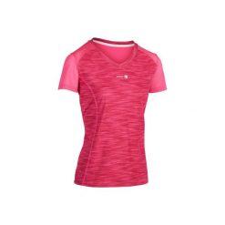 T-Shirt Soft 500 róż-melanż. Czerwone t-shirty damskie ARTENGO, melanż, z meshu. Za 39.99 zł.