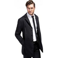 Płaszcz MICHELE PSCS000068. Czarne płaszcze męskie Giacomo Conti, z bawełny. Za 699.00 zł.
