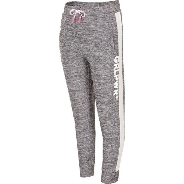 5298a01b2 Spodnie sportowe dla małych dziewczynek JSPDTR300 - CIEPŁY JASNY ...