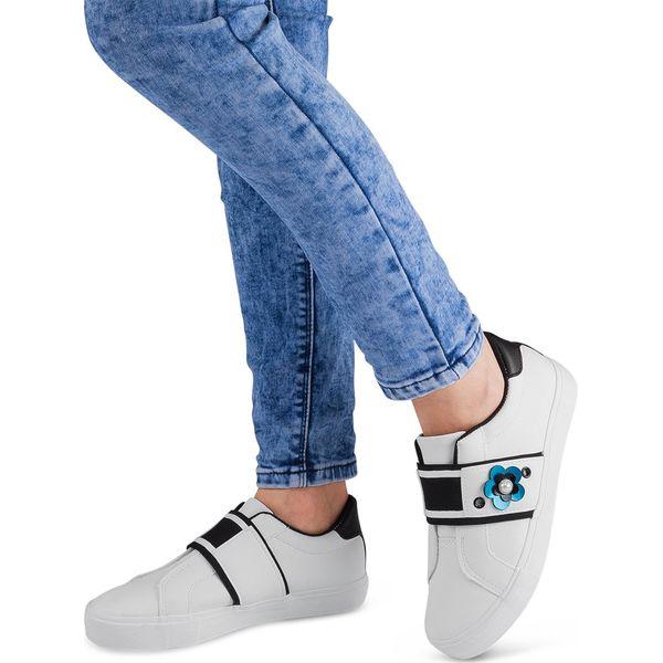 Buty sportowe damskie Ideal Shoes W3079 Białe