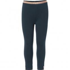 """Legginsy """"Alma"""" w kolorze granatowym. Niebieskie legginsy dla dziewczynek Noppies Baby. W wyprzedaży za 29.95 zł."""
