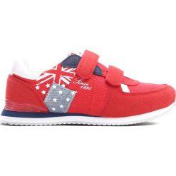 Czerwone Buty Sportowe Courtesy. Czerwone buty sportowe chłopięce Born2be, z materiału. Za 69.99 zł.