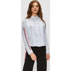 Tommy Jeans - Koszula. Szare koszule damskie Tommy Jeans, z jeansu, z długim rękawem. Za 359.90 zł.