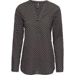 Bluzka z nadrukiem w serduszka bonprix czarno-biały z nadrukiem. Białe bluzki damskie bonprix, z nadrukiem, z dekoltem w serek. Za 74.99 zł.