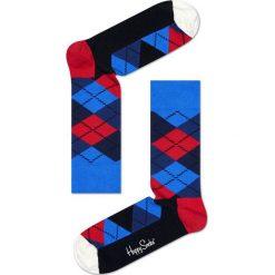 Happy Socks - Skarpety Argyle. Niebieskie skarpety męskie Happy Socks, z bawełny. W wyprzedaży za 27.90 zł.