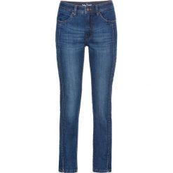 Wygodne dżinsy ze stretchem 7/8 STRAIGHT bonprix niebieski. Jeansy damskie marki bonprix. Za 79.99 zł.