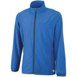 Wilson Bluza Tenisowa M Team Woven Jacket New Blue S. Niebieskie bluzy sportowe męskie Wilson. W wyprzedaży za 150.00 zł.