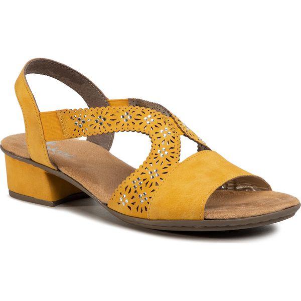 Sandały RIEKER 61963 68 Gelb
