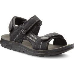 Sandały LANETTI - MS17009-2 Czarny. Czarne sandały męskie Lanetti, z materiału. W wyprzedaży za 59.99 zł.