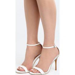 Białe Sandały Move Closer. Sandały damskie marki bonprix. Za 79.99 zł.
