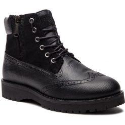 Kozaki TRUSSARDI JEANS - 77A00121 K299. Czarne kozaki męskie TRUSSARDI JEANS, z jeansu, klasyczne. Za 859.00 zł.