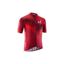 Koszulka na rower MTB XC męska. Czerwone koszulki sportowe męskie B'TWIN, z krótkim rękawem. Za 169.99 zł.