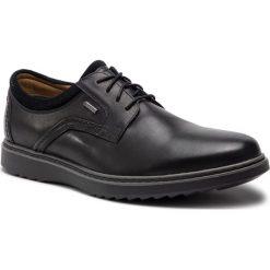 Półbuty CLARKS - Un Geo LaceGtx GORE-TEX 261369397 Black Leather. Czarne eleganckie półbuty Clarks, z gore-texu. W wyprzedaży za 379.00 zł.