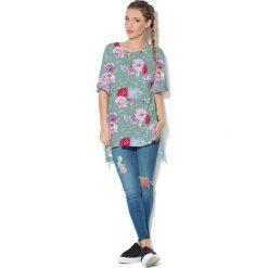 Colour Pleasure Koszulka CP-033  5  turkusowo-różowo-czerwona r. uniwersalny. Bluzki damskie Colour Pleasure. Za 76.57 zł.