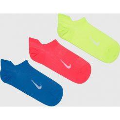 Nike - Skarpetki (3-Pack). Białe skarpety damskie Nike, z bawełny. Za 49.90 zł.