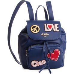 Plecak LOVE MOSCHINO - JC4082PP17LJ0750 Blu. Niebieskie plecaki damskie Love Moschino, ze skóry ekologicznej, klasyczne. Za 959.00 zł.