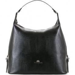 Torebka damska 15-4-209-1J. Czarne torebki do ręki damskie Wittchen, w paski. Za 479.00 zł.